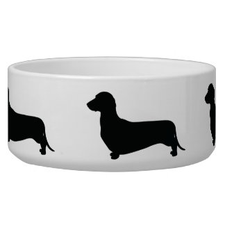 Dackel-Silhouette Hundenapf