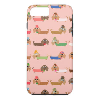 Dackeln auf Rosa iPhone 8 Plus/7 Plus Hülle