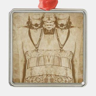 Dada ist tot silbernes ornament