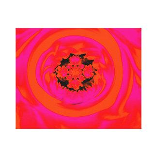 Dahlie abstrakt, orange, Rosa Gespannte Galeriedrucke