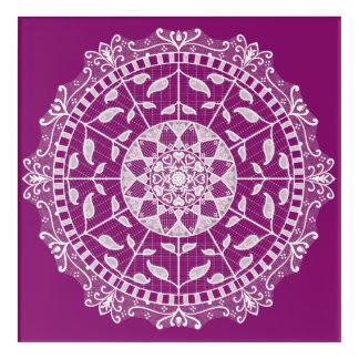 Dahlie-Mandala Acryldruck
