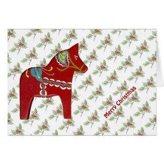 Dala Pferdeweihnachtskarte Grußkarte
