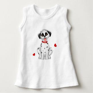 Dalmatinische Herzen Kleid