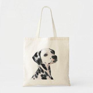 Dalmatinischer Hundeschönes Foto, Geschenk Budget Stoffbeutel