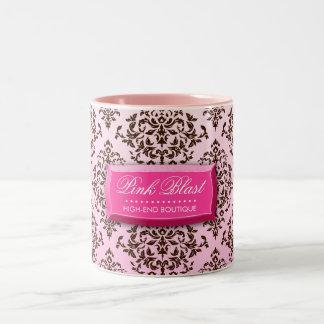 Damast-Kaffee-Tasse der Explosions-311-Pink schoko