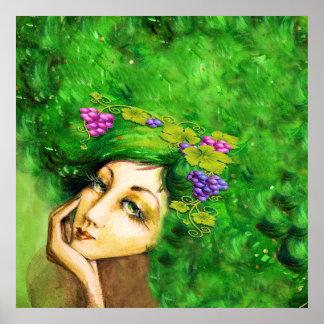 Dame Bordeaux Art Poster