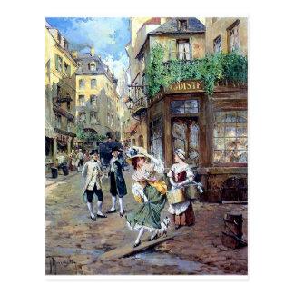 Dame in antiker Malerei Europas Postkarten