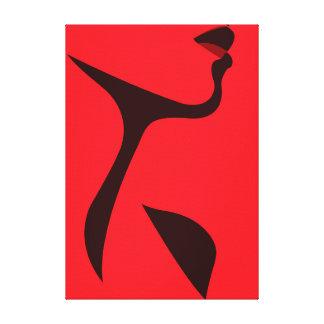 Dame In Red Leinwanddruck