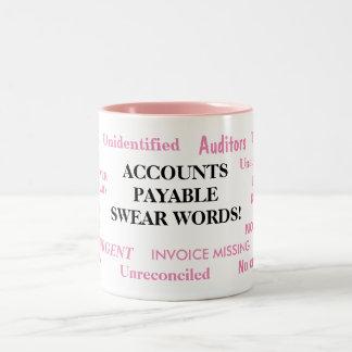 Damen-Rechnungs-Kraftausdrücke! Witz-Tasse Zweifarbige Tasse