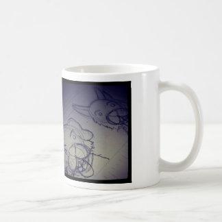 Damen-und Häschen-Skizze Tasse