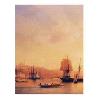Dämmerung auf dem goldenen Horn durch Iwan Postkarte