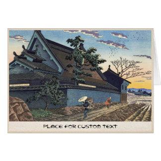 Dämmerung in der Landschaft Dorf Naras Takeji Karte