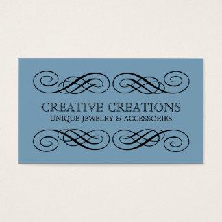 Dämmerungs-blaues extravagantes blühen visitenkarte