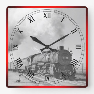 Dampf Locomotive* Quadratische Wanduhr