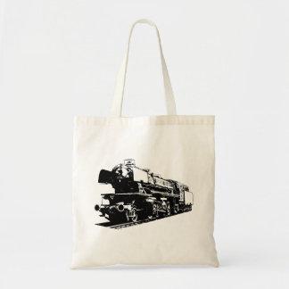 Dampf-Lokomotive - hochauflösend Tragetasche