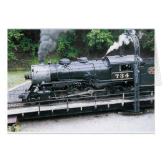 Dampf-Lokomotive Karte