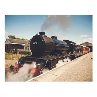 Dampf-Lokomotive Postkarte