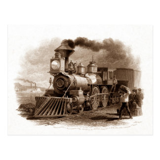 Dampf-Motor-Postkarte Postkarten