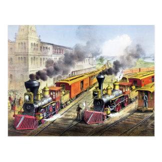 Dampf-Motor-Züge Postkarten