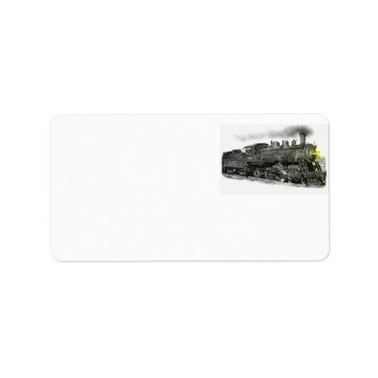 Dampf-Zug Adressaufkleber