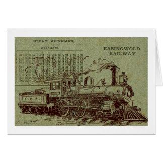 Dampf-Zug Karte