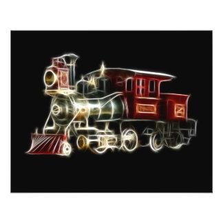 Dampf-Zug-LokomotivMotor 11,4 X 14,2 Cm Flyer