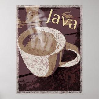 Dämpfende rustikale Java-Tasse Poster