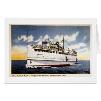 Dampfer Naushon, Nantucket Steamboat-Linie, Mass. Karte