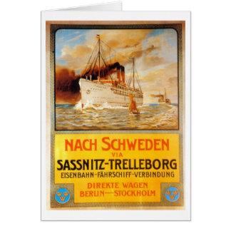 Dampfer-Schiff Karte