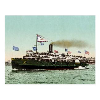 """Dampfer """"Stadt von Erie"""" 1900 Postkarte"""