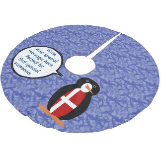 Dänischer Feiertags-Herr Penguin Polyester Weihnachtsbaumdecke