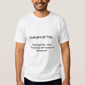 Dank, Danksagung nounThe Feiertag weiß auch… Shirt