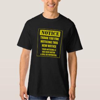 Dank für das Bemerken T-Shirt