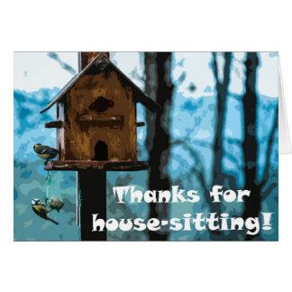 Dank für das Haus-Sitzen Karte