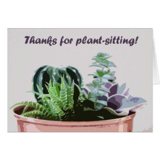 Dank für das Pflanze-Sitzen Karte