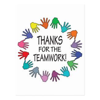Dank für die Teamwork-Anerkennungskarte Postkarte