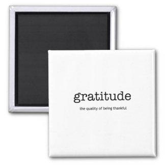 Dankbarkeits-Magnet Quadratischer Magnet
