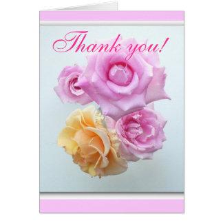 danke 4 Rosen notecard Karte