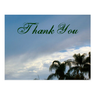 Danke Bäume und Himmel Postkarte