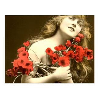 Danke danken Ihnen Rote Rosen Postkarte
