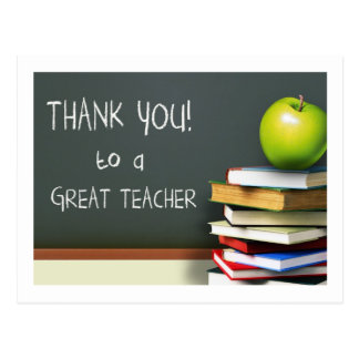 Danke ein zu den großen Lehrer-Postkarten Postkarte