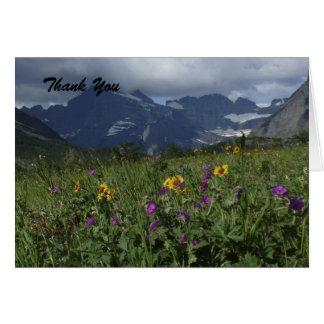Danke, freier Raum nach innen, GebirgsWildblumen Karte