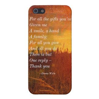 """Danke - """"für alle Geschenke, die Sie haben gegeben iPhone 5 Etui"""