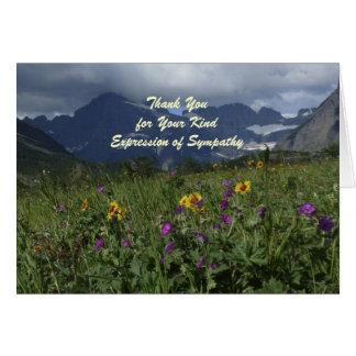 Danke für Beileid, GebirgsWildblumen-Anmerkung Karte