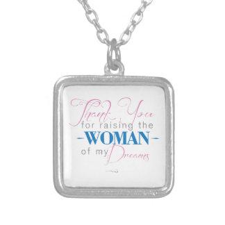 Danke für das Anheben der Frau meiner Träume Halskette Mit Quadratischem Anhänger