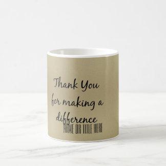 Danke für das Unterscheiden Tasse