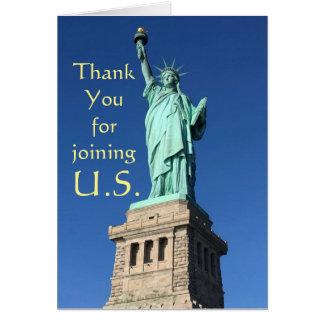 Danke für die Verbindung von US. Neue Bürger-Grüße Karte