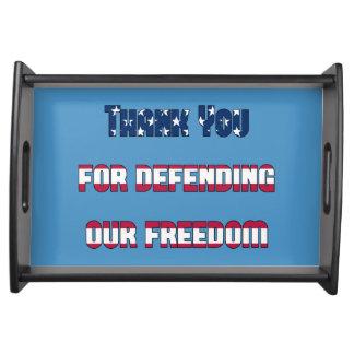 Danke für die Verteidigung unserer patriotischen Serviertabletts