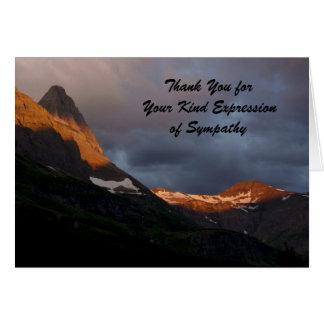 Danke für Ihr Beileid, Gletscher-Sonnenaufgang Karte