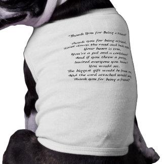 Danke für Sein ein Freund - Hündchen-Trägershirt Shirt
